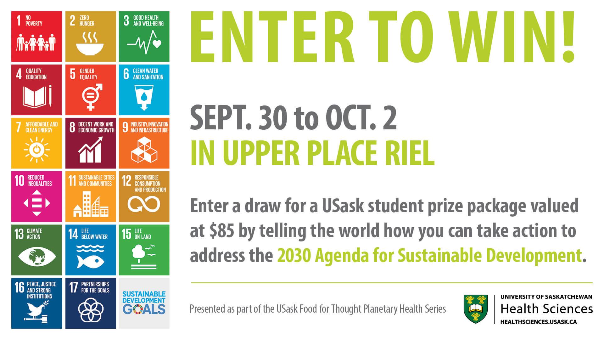 SDG Awareness Sept 30 to Oct 2